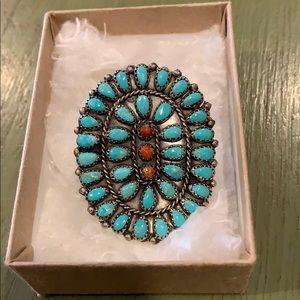 Gilbert Ortega Turquoise Ring